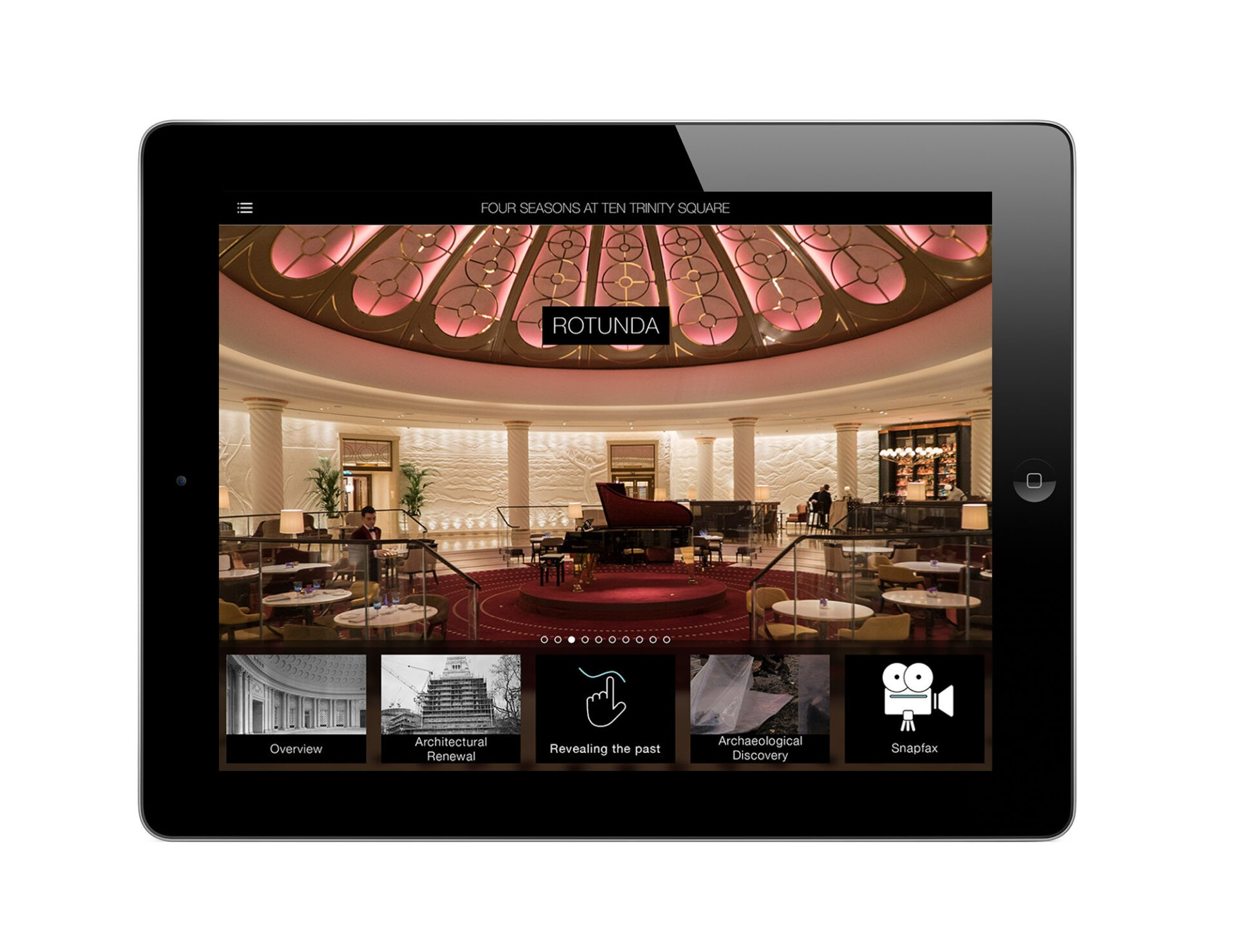 Four Seasons App on iPad