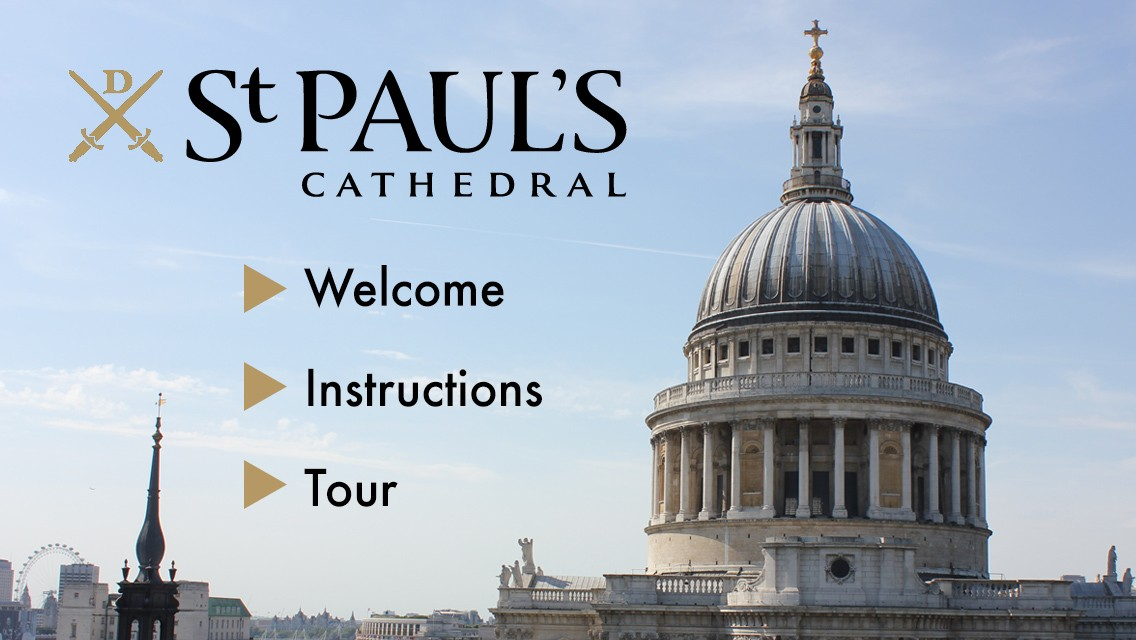 St Paul's Cathedral Welcome Screen