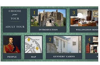 Walmer Castle Multimedia Guide Main Menu