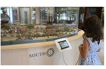 Tablet Kiosk with Child Visitor
