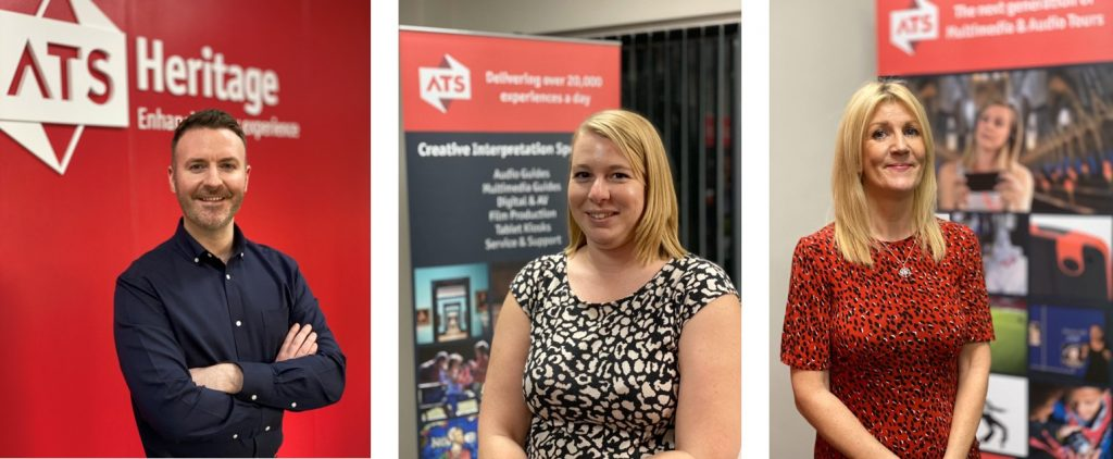 Portrait Photos of three new ATS employees