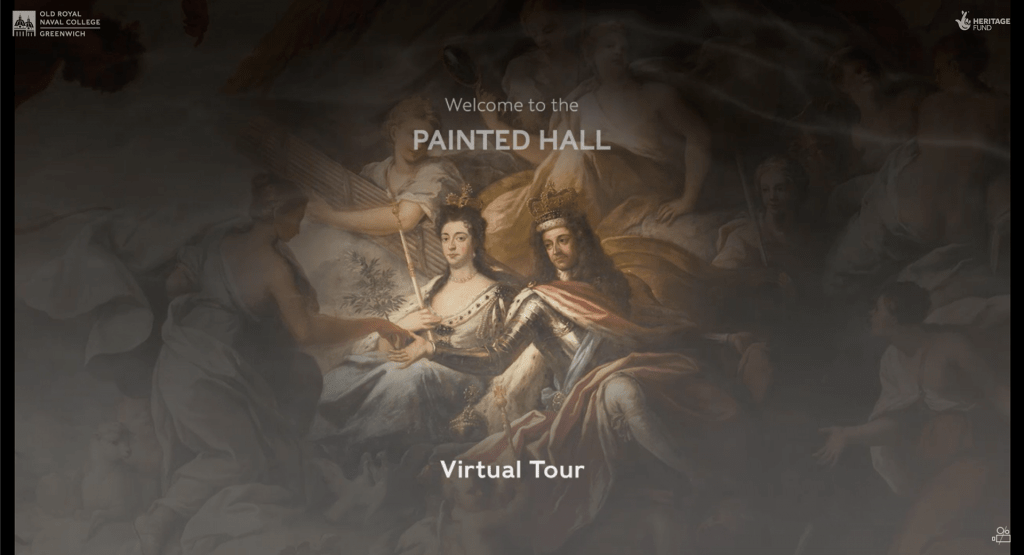 Home screen of the Virtual Tour Website
