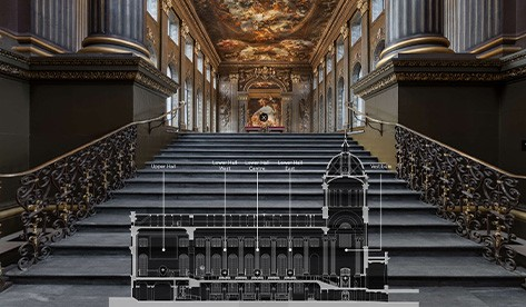 Homepage of Virtual Tour of Painted Hall